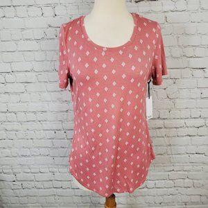 Dex Short Sleeve Tee Pink Geo M NWT